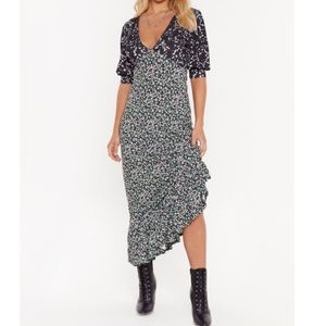 Nasty Gal Later Star Floral Maxi Dress size 8